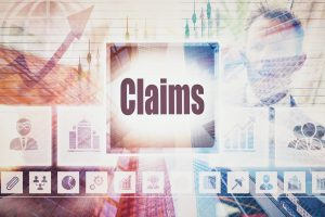 claims concept on colorful background with charts for a top disability benefits lawyer chicago