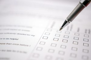 questionaire being filled out by a social security disability attorney libertyville