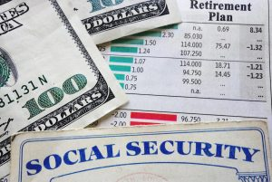 social security card, money and retirement planning numbers for a joliet ssdi attorney