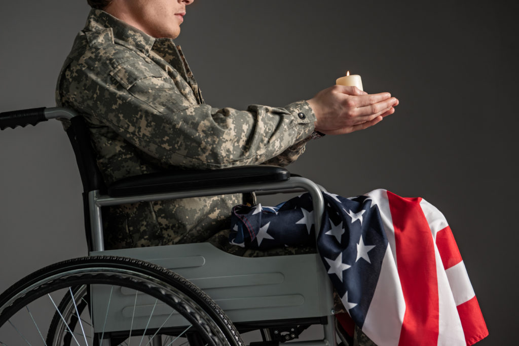 handicapped veteran needing disability assistance from a skilled East Chicago veterans benefits lawyer
