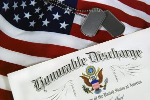 honorable discharge papers for a veteran wanting to obtain healthcare benefits from the help of a veterans benefits attorney in Hobart.
