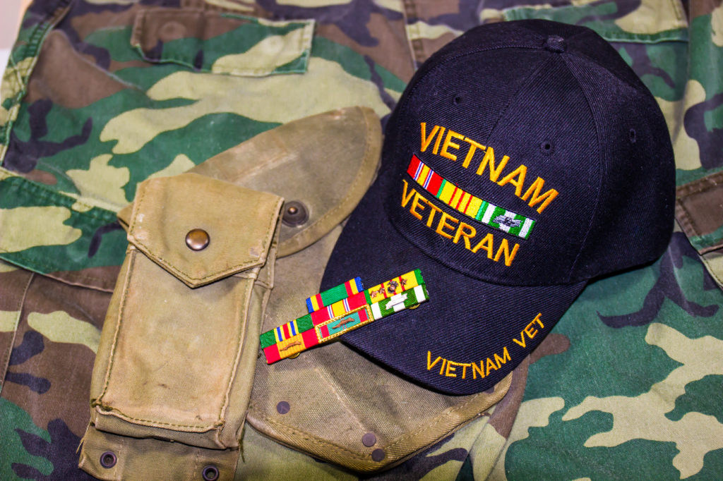 A Vietnam hat with ribbons representing how our Hobart VA benefits attorney can help you make sure you get the benefits you deserve