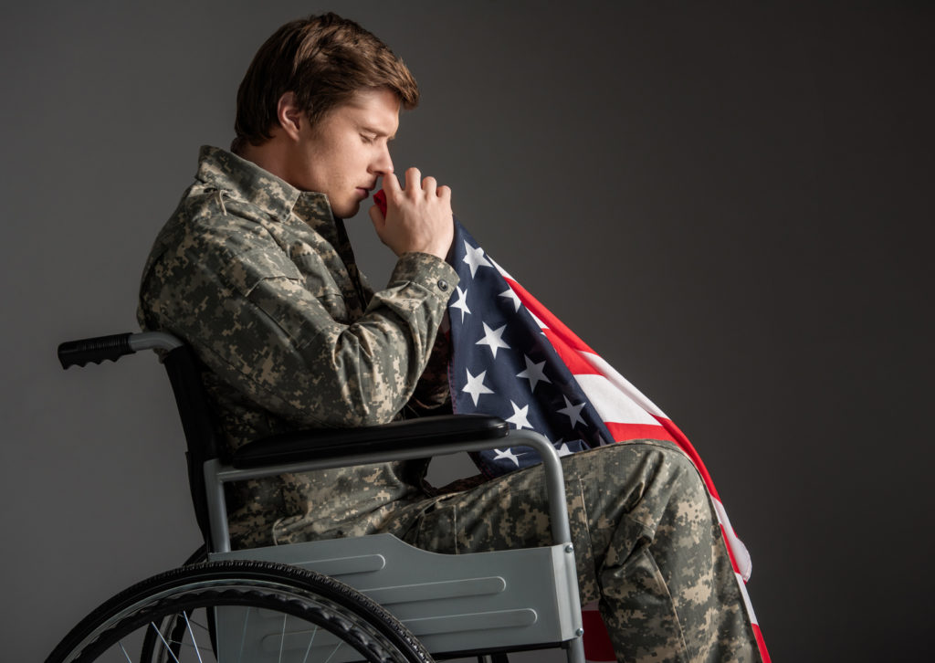 unhappy handicapped veteran man looking for a job, and in need of a good NW Indiana TDIU lawyer.