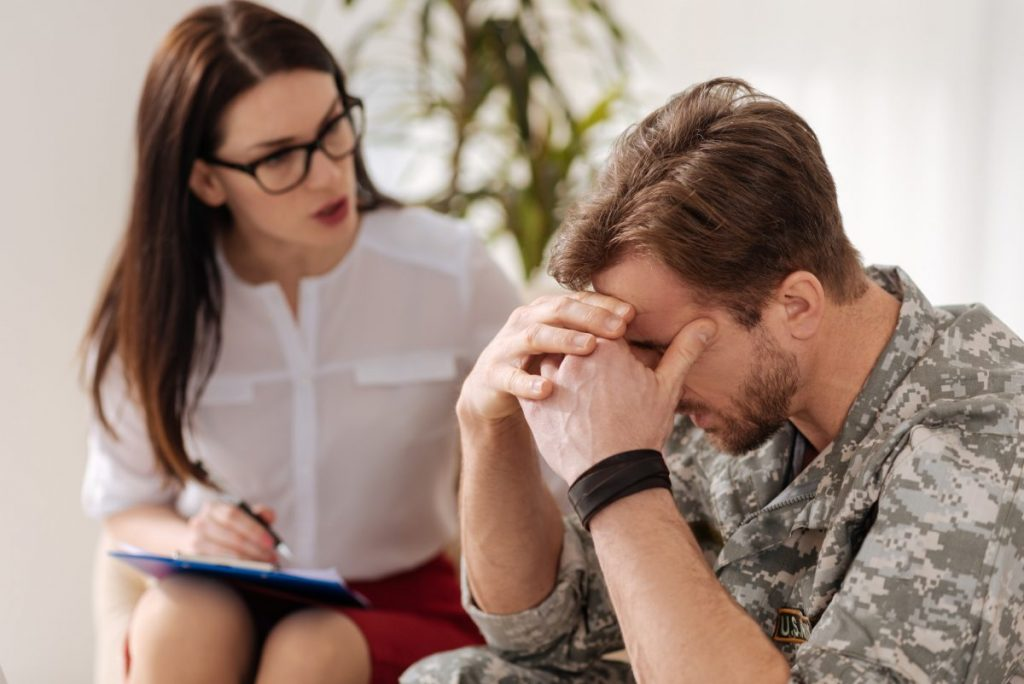 Veteran talking to psychologist, you can rely on the educated Gulf War Syndrome attorney near Naperville.